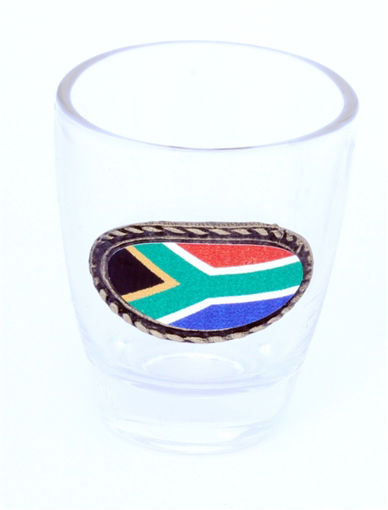 Picture of Tot Glass - SA Flag