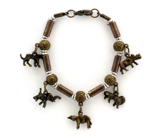 Picture of Bracelet - Big 5 with Metal Beads