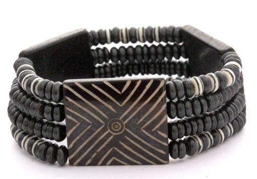 Picture of Bracelet - Bone Bead (Striped)