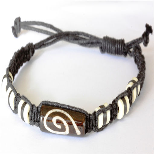 Picture of Bracelet - Bone Bead (Twirl)
