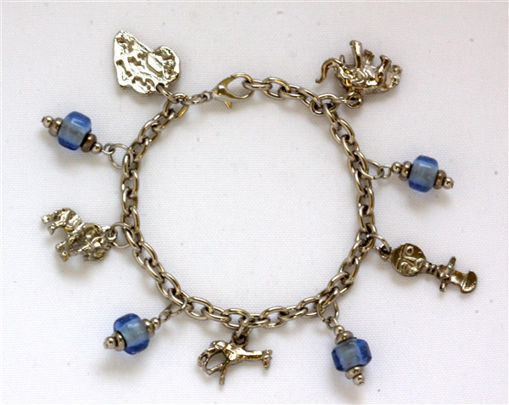 Picture of Charm Bracelet - Wildlife (Blue Beads)
