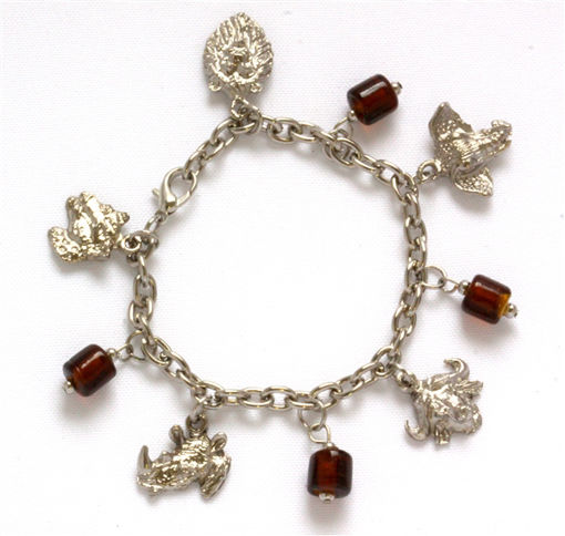 Picture of Charm Bracelet - Big 5 (Amber Beads)