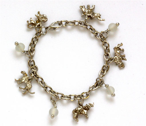 Picture of Charm Bracelet - Big 5 (White Beads)