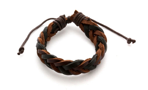 Picture of Leather Bracelet - Wishbone (Brown/Black)