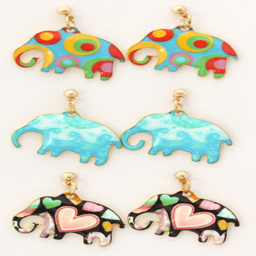 Picture of Earrings - Elephant (Assorted Designs)