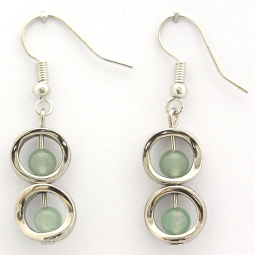 Picture of Earrings - Stone / Metal (Aventurine)