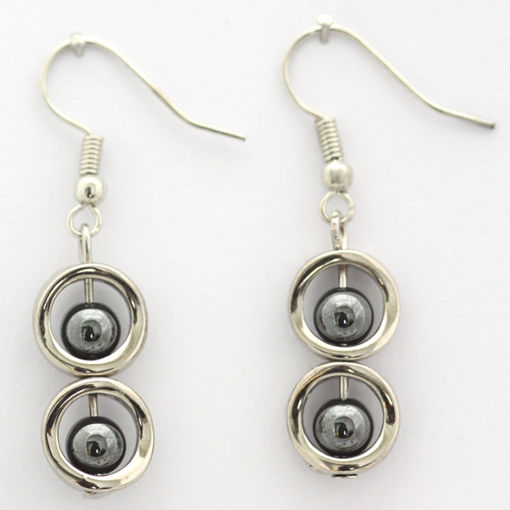 Picture of Earrings - Stone / Metal (Hematite)