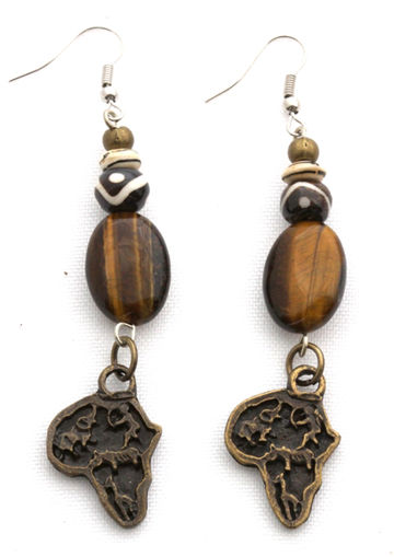 Picture of Earrings - Tigers Eye
