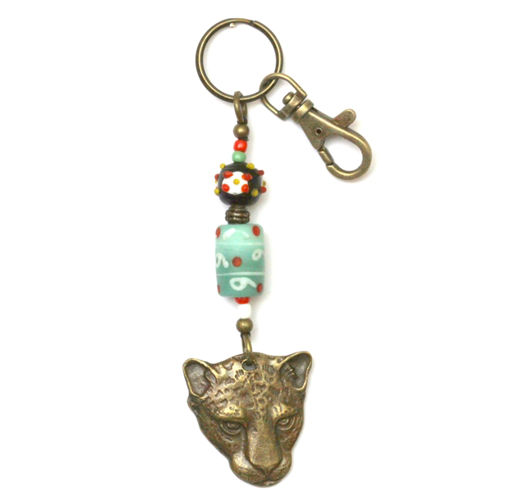 Picture of Key Ring - African Trade Bead (Cheetah)