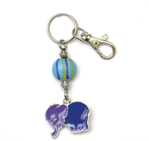 Picture of Key Ring - Hand Painted (Elephant)