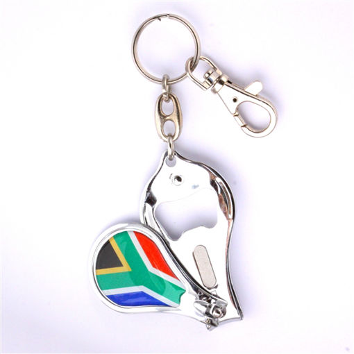 Picture of Key Ring - SA Flag (Nail Clipper / Bottle Opener)