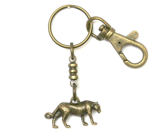 Picture of Key Ring - Single Ethnic with Clip (Cheetah)