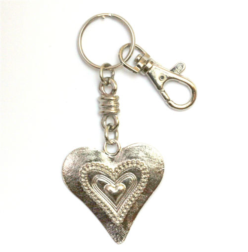 Picture of Key Ring - Local with Clip (Heart)
