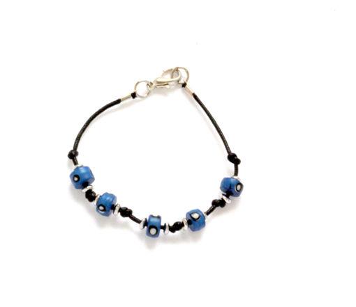 Picture of Children's Bracelet - Bone Bead (Blue)