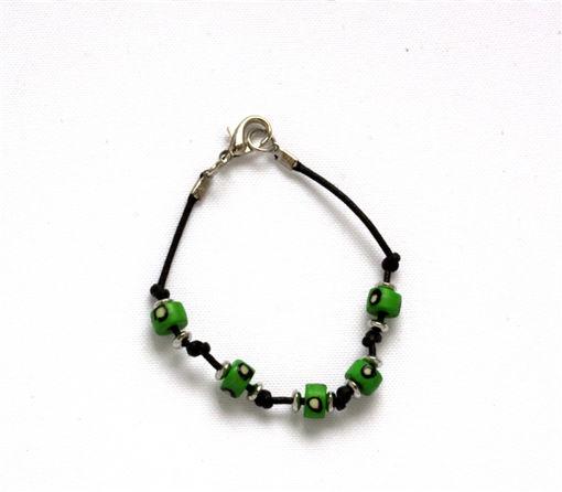 Picture of Children's Bracelet - Bone Bead (Green)