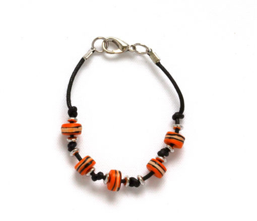Picture of Children's Bracelet - Bone Bead (Orange)