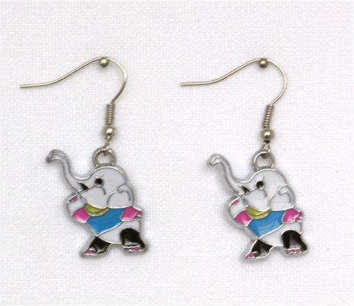 Picture of Children's Earrings - Dancing Elephant