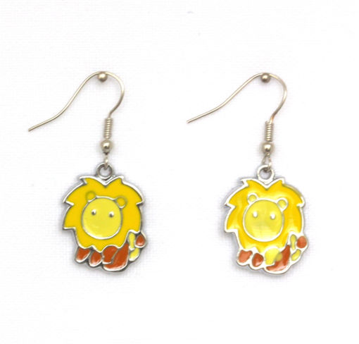 Picture of Children's Earrings - Lion