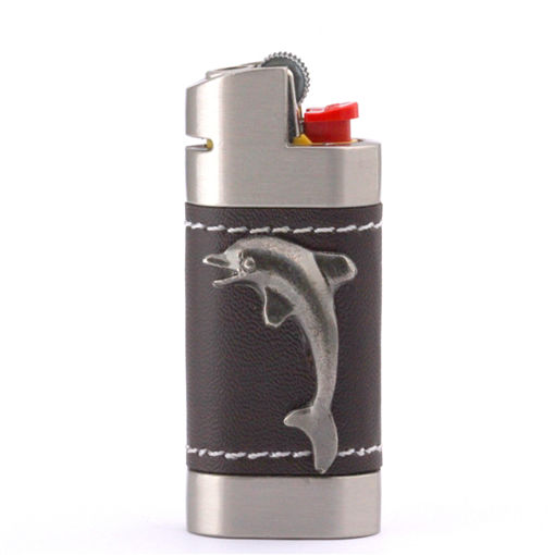 Picture of Leather Lighter Cover - Dolphin