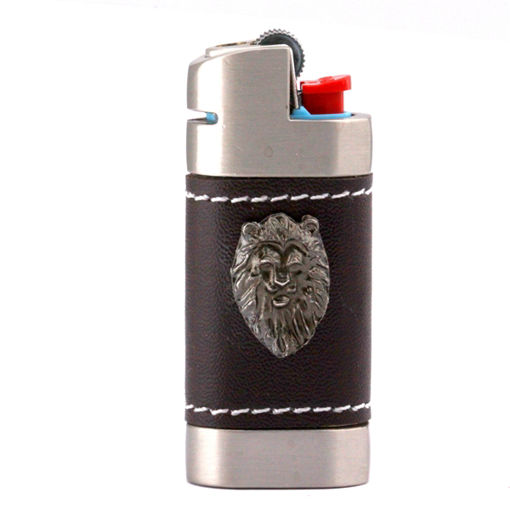 Picture of Leather Lighter Cover - Lion