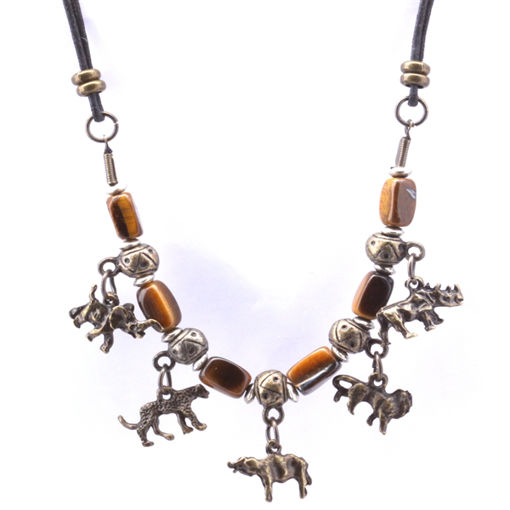 Picture of Necklace - Big 5 (Tigers Eye Beads)