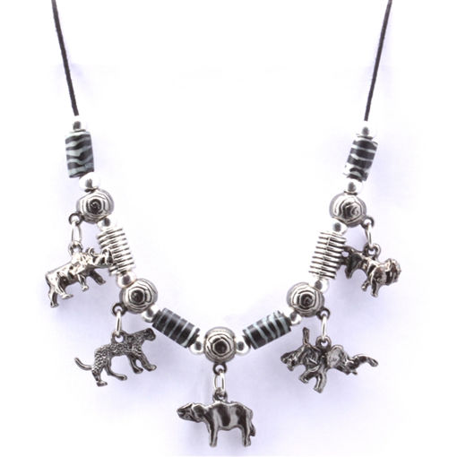 Picture of Necklace - Big 5 (Zebra Beads)