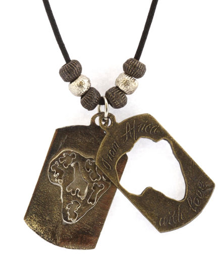 Picture of Necklace - Double Pendant (Africa)