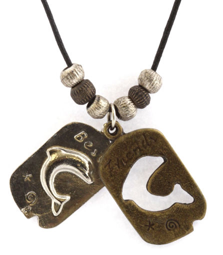 Picture of Necklace - Double Pendant (Dolphin)