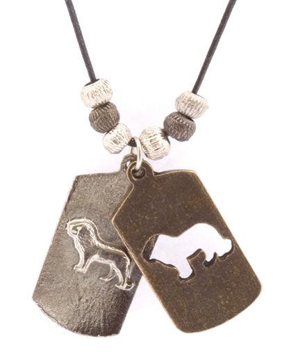 Picture of Necklace - Double Pendant (Lion)