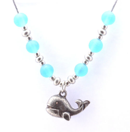 Picture of Choker - Glass & Metal (Whale)