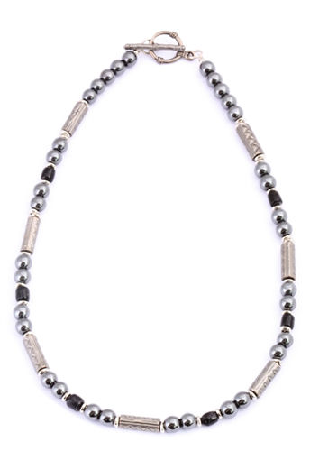 Picture of Necklace - Hematite (Black Beads)
