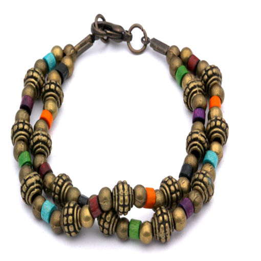 Picture of Metal Bead/Wood Bracelet
