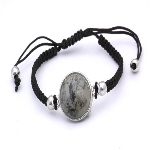 Picture of Bracelet - Stone (Black Cotton)