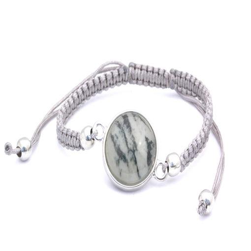 Picture of Bracelet - Stone (Grey Cotton)