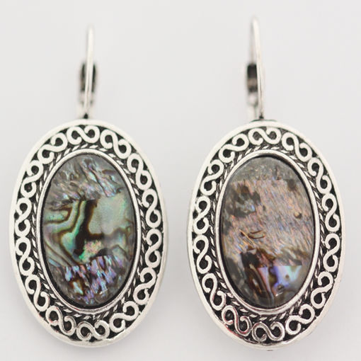 Picture of Earrings - Stone / Metal (Mother of Pearl)