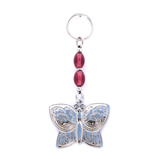Picture of Key Ring - Single Beaded (Butterfly)