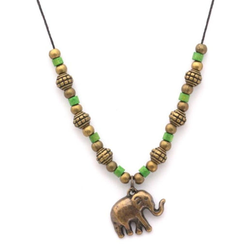 Picture of Choker - Metal & Wood (Elephant)