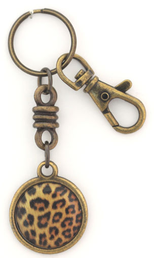 Picture of Key Ring - Charmed Round with Clip (Leopard)