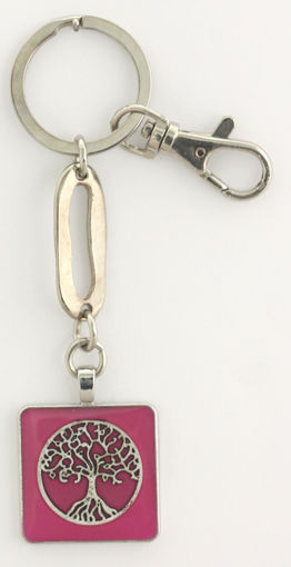 Picture of Key Ring - Tree of Life (Pink)