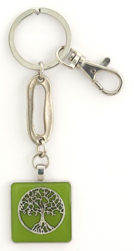 Picture of Key Ring - Tree of Life (Green)