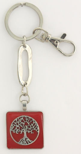 Picture of Key Ring - Tree of Life (Red)