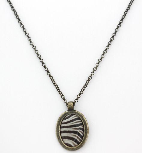 Picture of Necklace - Animal Print (Zebra)