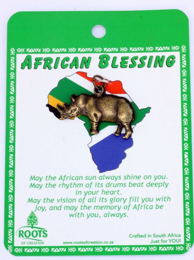 Picture of African Blessing Cards - Rhino (Magnetic)