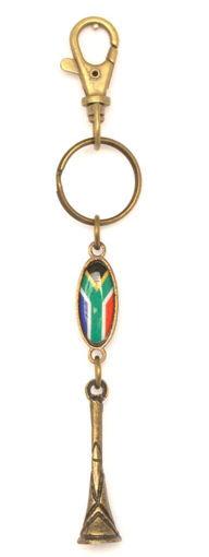 Picture of Key Ring - SA Flag (Vuvuzela)