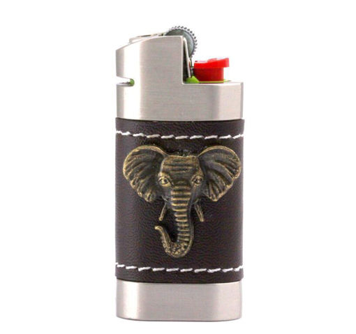 Picture of Leather Lighter Cover - Elephant Head