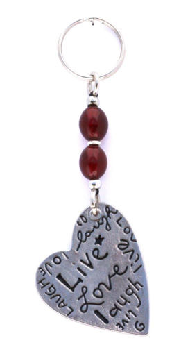 Picture of Key Ring - Single Beaded (Heart)