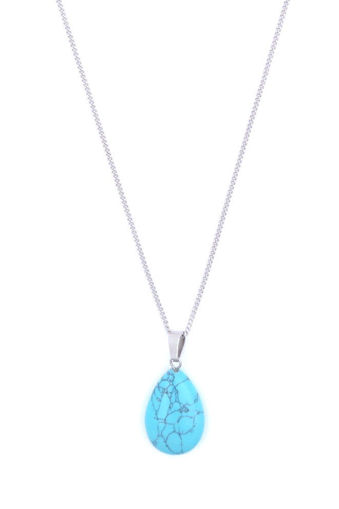 Picture of Choker - Stone on Chain (Turquoise)