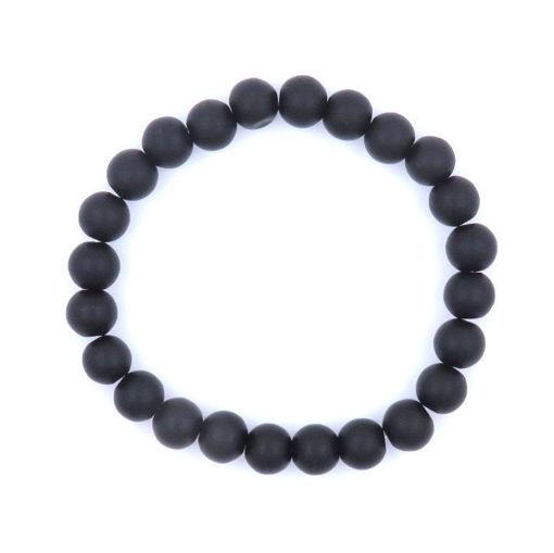 Picture of Bracelet - Unpolished Stone (Black Onyx)