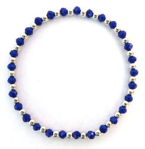 Picture of Bracelet - Blue Beaded Elastic
