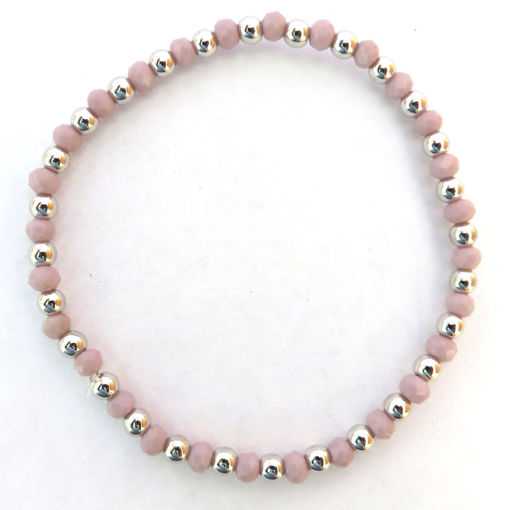 Picture of Bracelet - Pink Beaded Elastic